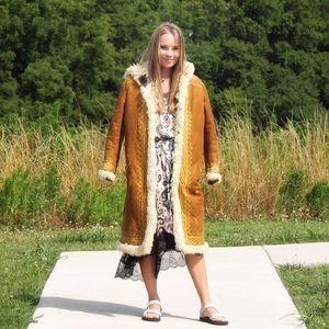 Jackets & Blazers - VTG 1960s Afghan Embroidered Sheepskin Coat